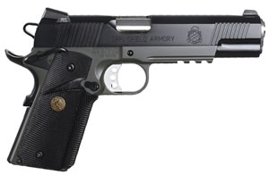 Springfield MC Operator Pistol PX9105MLP, 45 ACP, 5 in BBL, Sngl Actn Only, Pachmayr Rubber Grips, Fixed Cmbt Tritium Sights, Olive Drab/Blk Finish, 7 + 1 Rds