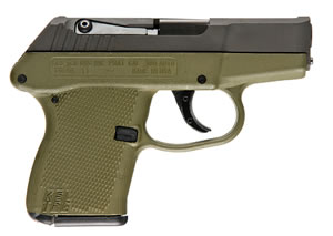 Kel-Tec Model P-3AT Pistol P3ATPKGN, 380 ACP, 2 3/4 in BBL, Dbl Actn Only, Polymer Grips, Fixed Sights, Park Finish, 6 + 1 Rds