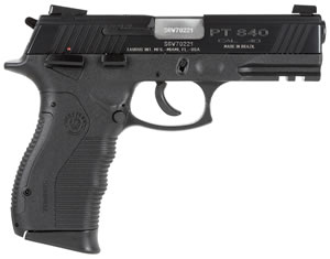 Taurus Model 840 Pistol 1840041, 40 S&W, 4 in BBL, Sngl / Dbl, Blk Syn Grips, 3-Dot Sights, Blue Finish, 15 + 1 Rds