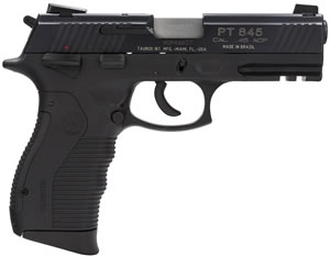 Taurus Model 845 Pistol 1845041, 45 ACP, 4 in BBL, Sngl / Dbl, Blk Syn Grips, 3-Dot Sights, Blue Finish, 12 + 1 Rds