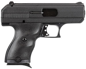 Hi Point Compact Pistol 916HC, 9 MM, 3 1/2 in BBL, Dbl Actn Only, Polymer Grips, 3-Dot Adj Sights, Blk Finish, 8 + 1 Rds