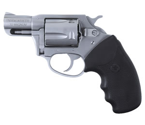 Charter Arms Undercoverette Revolver 73220, 32 H & R Mag, 2 in BBL, Sngl / Dbl, Blk Rubber Grips, Fixed Sights, Stainless Finish, 5 Rds