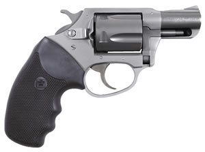 Charter Arms Southpaw Revolver 93820, 38 Special + P, 2 in BBL, Sngl / Dbl, Blk Rubber Grips, Fixed Sights, Aluminum Finish, 5 Rds