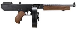 Auto-Ordnance-Thompson TA5 1927-A1 Pistol TA5, 45 ACP, 10 1/2 in BBL, Sngl Actn Only, Walnut Grips, Adj Sights, Blue Finish, 50 + 1 Rds