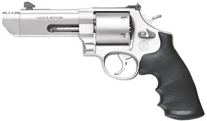 Smith & Wesson Model 629 V-Comp Revolver 170137, 44 Remington Mag, 4 1/4 in BBL, Sngl / Dbl, Syn Grips, Adj Sights, Mt Stainless Finish, 6 Rds