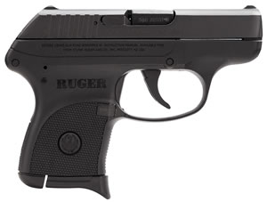 Ruger LCP Lightweight Compact Pistol 3701, 380 ACP, 2 3/4 in BBL, Dbl Actn Only, Polymer Grips, Fixed Sights, Blue Finish, 6 + 1 Rds