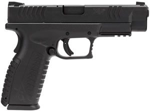 Springfield Model XD M Factor Pistol XDM9202HCSP, 40 S&W, 4 1/2 in BBL, Dbl Actn Only, Polymer Grips, Blk Finish, 16 + 1 ( 2 Mags) Rds