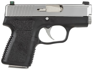 Kahr Model PM9 Micro Pistol PM9093N, 9 MM, 3 in BBL, Dbl Actn Only, Syn Grips, Tritium Night Sights, Blk Polymer/SS Finish, 6 + 1, 7 + 1 Rds