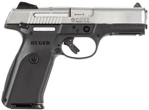 Ruger KBSR9 Model KSR9-10L Pistol 3309, 9 MM, 4.14 in BBL, Dbl Actn Only, Glass Filled Nylon Grips, Adj Sights, Stainless Slide/Blk Frame, 10 + 1 Rds
