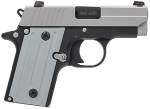 Sig Sauer P238 Pistol 238380TSS, 380 ACP, 2.7 in BBL, Sngl Actn Only, Aluminum Grips, Night Sights, Two Tone Finish, 6 + 1 Rds