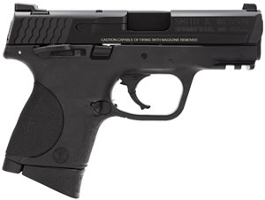 Smith & Wesson M&P 9C Compact Pistol 206304, 9 MM, 3.5 in BBL, Dbl Actn Only, Blk Syn Grips, Blk Finish, 12 + 1 Rds