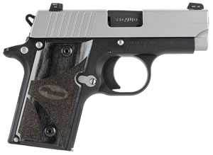 Sig Sauer P238 Pistol 238380BG, 380 ACP, 2.7 in in BBL, Single, Custom Blackwood Grips, Two Tone Finish, 6 + 1 Rds, Night Sights