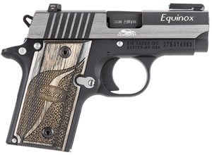 Sig Sauer Model P238 Equinox Pistol 238380EQ, 380 ACP, 2.7 in, Wood Grip, BiTone Finish, 6 + 1 Rd