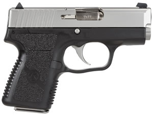Kahr Model PM9 Pistol PM9193, 9mm, 3 in in BBL, Double, Black Polymer Grips, Black Polymer/Stainless Steel Finish, 6 Rd/7 Rd Grip Exten