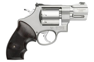 Smith & Wesson Model 627 Performance Center Revolver 170133, 357 Mag/38 Special, 2 5/8 in in BBL, Single / Double, Wood Grips, Matte Stainless Finish, 8 Rds