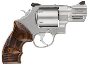 Smith & Wesson Model 629 Performance Center Revolver 170135, 44 Rem Mag, 2 5/8 in in BBL, Single / Double, Wood Grips, Matte Stainless Finish, 6 Rds
