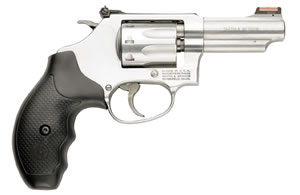 Smith & Wesson Model 63 Revolver 162634, 22 Long Rifle, 3 in, Synthetic Grip, Satin Stainless Finish, 8 Rd, Adj Sights