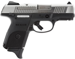 Ruger Model SR9C Compact Pistol KSR9C 3313, 9mm, 3 1/2 in, Glass Filled Nylon Grip, Stainless Steel Finish, 17 + 1