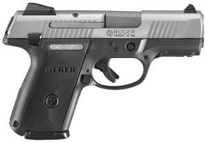 Ruger Model SR9C Compact Pistol KSR9C10L 3316, 9mm, 3 1/2 in, Glass Filled Nylon Grip, Brushed Stainless Finish, 10 + 1