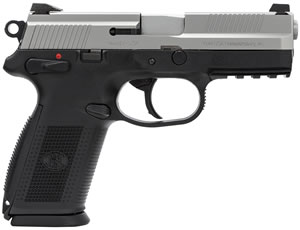 FN Herstal FNX-9 Pistol 66826, 9mm, 4 in, Chkd Polymer Grip, Two Tone Finish, 17 + 1 Rd