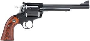 Ruger Bisley Model RB45W Revolver w/Rollmark Cylinder 0447, 45 Long Colt, 7 1/2 in BBL, Sngl Actn Only, Rosewood Grips, Blue Steel Finish, 6 Rds