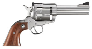 Ruger Blackhawk KBN34 Revolver 0309, 357 Remington Mag, 4 5/8 in BBL, Sngl Actn Only, Rosewood Grips, Adj Sights, Satin Stainless Finish, 6 Rds