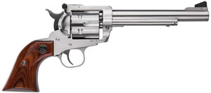 Ruger Blackhawk KBN36 Revolver 0319, 357 Remington Mag, 6 1/2 in BBL, Sngl Actn Only, Rosewood Grips, Adj Sights, Satin Stainless Finish, 6 Rds