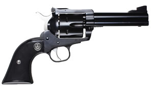 Ruger Blackhawk BN34X Covertible Revolver 0308, 357 Remington Mag/9mm, 4.62 in BBL, Black Grip, Blued Finish, 6 Rds
