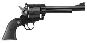 Ruger Blackhawk BN36X Convertible Revolver 0318, 357 Remington Mag/9mm, 6.5 in BBL, Black Grip, Blued Finish, 6 Rds
