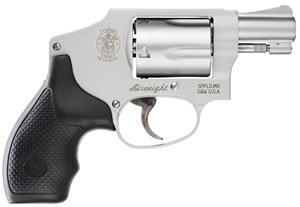 Smith & Wesson Model 642 Airweight Centennial Revolver 103810, 38 Special, 1 7/8 in, Stainless / Rubber Grips, 5 Rd