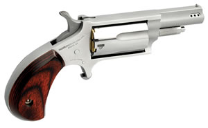 NAA Mini-Revolver Ported 22MSCP, 22 Mag, 1.12 in, Rosewood Grip, Stainless Finish, 5 Rd