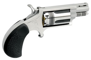 NAA Wasp Snub Revolver 22MSTW, 22 Magnum, 1 1/8 in, Black Syn Grip, Stainless Finish, 5 Rd