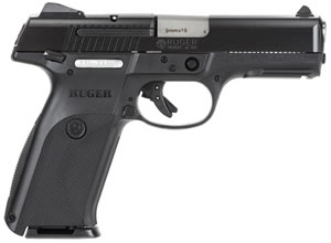 Ruger Model SR9 Pistol SR9B10L 3312, 9 mm, 4.14 in, Black Syn Grip, Blue Steel Slide/ Polymer Frame, 10 + 1 Rd
