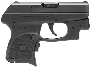 Ruger LCP Pistol 3713, 380 ACP, 2.75 in, Blk Polymer Grip, Blued Finish, 6 + 1 Rd, w/Laserguard, Pocket Holster
