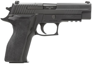 "Sig Sauer P226 Enhanced Elite Pistol E26R-9-ESE, Full Size, 9 mm, 4.4"" Barrel, SRT DA/SA, Ergo Grips, Nitron Slide/Black Anodized Frame Finish, 15 + 1 Rd"