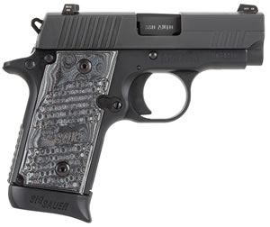Sig Sauer Model P238 Pistol 238380XTMBLKGRY, 380 ACP, 2.7 in, G10 Comp Grip, Stainless Finish, 7 + 1 Rd, Night Sights