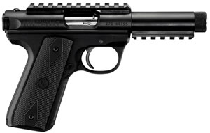 Ruger Model 22/45 Threaded BBL Rimfire Pistol P45GMK3PRRP 10149, 22 Long Rifle, 4.5 in, Zytel Grip, Blue Finish, 10 + 1 Rd, Rail