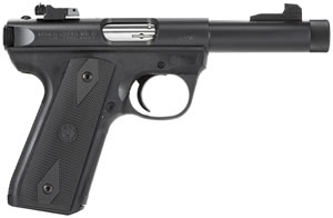 Ruger Model 22/45 Threaded BBL Rimfire Pistol P45GMK3RP 10150, 22 Long Rifle, 4.5 in, Zytel Grip, Blue Finish, 10 + 1 Rd