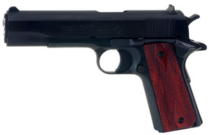 Colt Government 1911 Pistol O2991, 38 Super, 5 in, Blue / RoseWood, 9+1 Rds