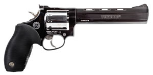 Taurus Model 992 Tracker Revolver 2992061, 22 LR / 22 Mag, 6.5 in, Black Grip, Blue Finish, 9 Rd