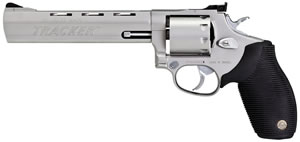 Taurus Model 992 Tracker Revolver 2992069, 22 LR / 22 Mag, 6.5 in, Black Grip, Stainless Finish, 9 Rd