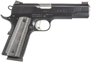 Remington  1911 R1 Pistol 96328, 45 ACP, 5 in, Black Chkd Grip, Black/Pewter Finish, 8 + 1 Rd