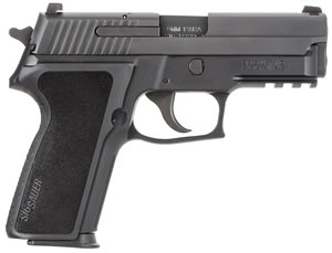 "Sig Sauer P229 Pistol 229R-9-B-CA, 9 mm, 3.9"" Barrel, DA/SA, Black Polymer Factory Grips, Nitron Slide/Black Anodized Frame Finish, 10 + 1 Rd, Contrast Sights, CA Compliant"