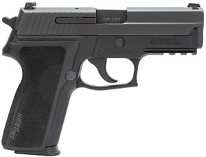 "Sig Sauer P229 Pistol 229R-9-BSS-CA, 9 mm, 3.9"" Barrel, DA/SA, Black Polymer Factory Grips, Nitron Slide/Black Anodized Frame Finish, 10 + 1 Rd, SigLite Night Sights, CA Compliant"