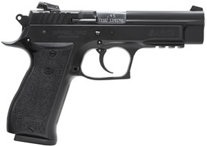 EAA SAR K2 Pistol 170840, 45 ACP, 4.5 in, Black Grip, Blue Finish, 14 + 1 Rd