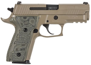 Sig Sauer Model P229 E29R9SCPN, 9mm, 3.9 in, Polymer Grip, Flat Dark Earth Finish, 15 + 1 Rd
