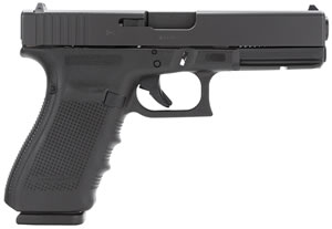 Glock Model G21 Gen 4 Pistol PG2150203, 45 ACP, 4.60 in, Black Grip, Black Finish, 13 + 1 Rd, Fixed Sights
