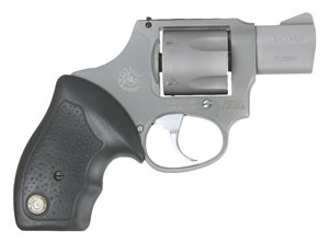 Taurus Model 380 Mini Revolver 2380129UL, 380 ACP, 1.75 in, Rubber Grip, Matte Stainless Finish, 5 Rd