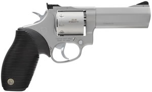 Taurus Model 992 Tracker Revolver 2992049, 22 LR / 22 Mag, 4 in, Ribber Grip, Stainless Steel Finish, 9 + 1 Rd