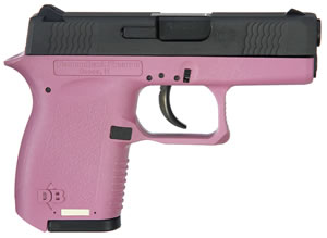 Diamondback DB380HP Pistol, 380 ACP, 2.8 in, Pink Grip Grip, Black/Pink Finish, 6 + 1 Rd